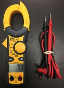 Ideal 61 746 600 Amp Ac With Ncv Digital Clamp Multimeter Electrical Tester