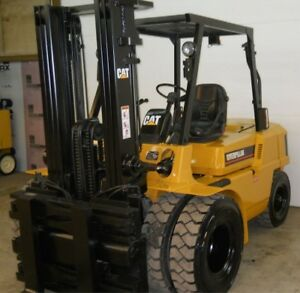 Caterpillar Dp25 5000lbs Diesel Forklift Dual Wheel W Side Shift 131 Max Ht