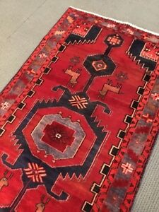 Spectacular Tribal Old Authentic Original 3 6 X 6 8 Area Rug Geometric A
