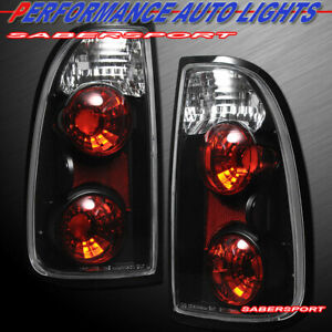 Set Of Pair Black Taillights For 2000 2004 Tundra Standard Cab And Access Cab