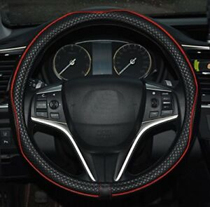Microfiber Leather Car Steering Wheel Cover Universal 15 Inch Steering Cover