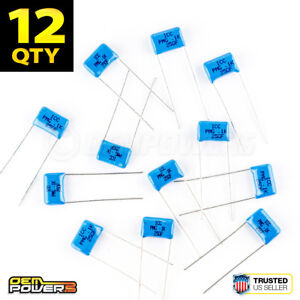 12 X 0 1uf 0 1 Tef 250v 125c Metallized Polyester Film Capacitor 2721053 New