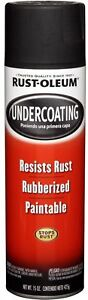 Spray Paint 6 pack Rubberized Undercoating Auto Matte Black Metal Rubber Coating