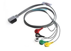 Digitrak Xt 5 lead Ecg Holter Cable With Leadwires
