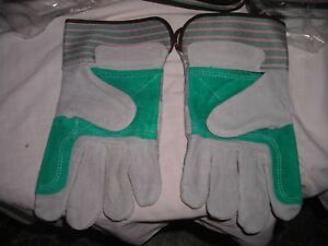 Double Palm Split Leather Work Glove Size Large West Chester 450dp 36 Pair