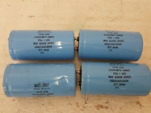 Lot Of 4 Mallory Cgs214u06x5r Capacitor Type Cgs untested