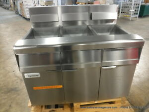 New Frymaster Mj350 Gas Triple Bay Deep Fryer