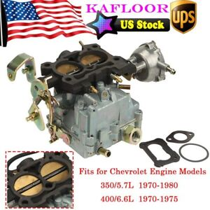 Carburetor Type Rochester 2gc 2 Barrel For Chevrolet 350 5 7l 400 6 6l 1970 1980