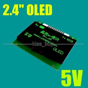 2 4 Inch Oled Lcd Screen 128x64 Green Display Module Spi 5v Io Leve F Arduino