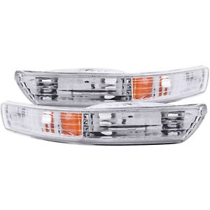 Set Of Pair Euro Clear Signal Bumper Lights For 1998 2001 Acura Integra
