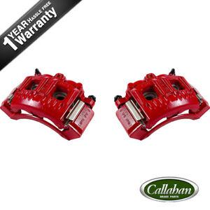 Front Red Brake Calipers Pair For Ford Expedition F 150 F 250 Navigator 4wd 2wd
