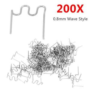 200pcs 0 8mm Hot Staples Wave Staples For Car Bumper Repair Plastic Welding Tool
