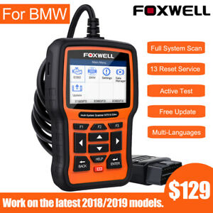 Foxwell Nt520 For Bmw Obd2 Scanner Abs Srs Oil Reset Full System Diagnostic Tool