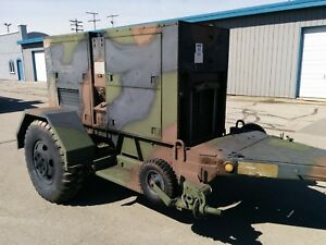 Mep 007b Trailer Mounted 100kw Generator 3 Phase 3306 Caterpillar Diesel 748 Hrs