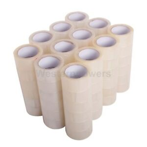 72 Rolls 2 x110 Yards 330 Ft Box Carton Sealing Clear Packing Package Tape