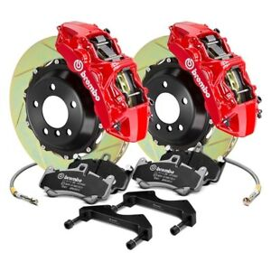 For Subaru Wrx 12 14 Brembo Gt Series Slotted 2 piece Rotor Front Big Brake Kit