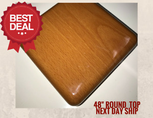 New 48 Round Resin Restaurant Table Top In Cherry eased Edge With Quick Ship