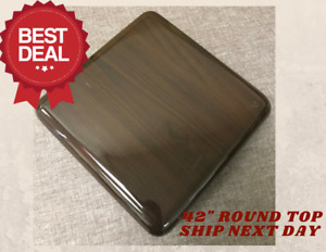 New 42 Round Resin Restaurant Table Top In Walnut eased Edge With Quick Ship