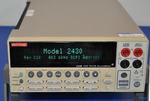 Keithley 2430 1kw Pulse Sourcemeter Smu Nist Calibrated With Warranty