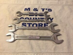 Vintage Snap on Tools 4pc Metric Double Open Wrench Set Vsm Series Usa