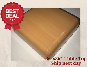 New 36 x36 Resin Restaurant Table Top In Natural eased Edge With Quick Ship