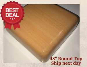 New 48 Round Resin Restaurant Table Top In Natural eased Edge With Quick Ship
