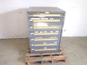 Equipto Classic 7 Drawer Tools Parts Cabinet 30 X 29 X 42 1 4 Hd Steel
