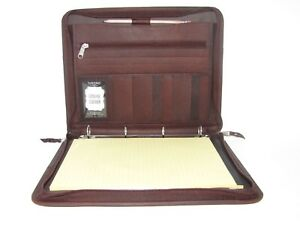 Brown Real Leather A4 Folder Portfolio Option To Personalise H0100 4 Ring Binder