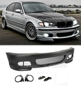 For 00 06 M tech Ii E46 Coupe Front Bumper With Fog Light Covers Performance