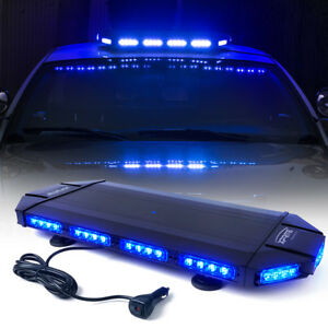 Xprite Hawk 27 Mini Low Profile Tir Led Emergency Rooftop Strobe Light Blue