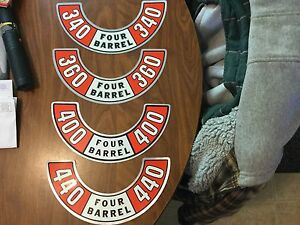 Mopar Dodge Plymouth N O S 340 360 400 440 Air Cleaner Lid Decal Only Get One