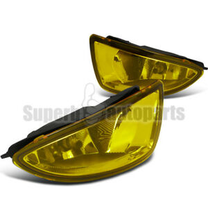 For 2004 2005 Honda Civic 2d 4dr Bumper Fog Lights Driving Lamps Switch Yellow