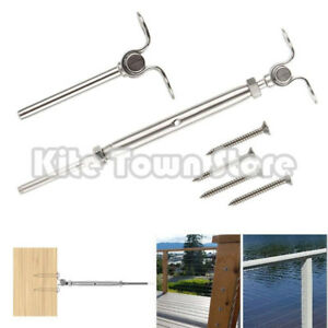 T316 Stainless Steel Deck Toggle Tensioner Set For Cable Railing 3 16 Cable