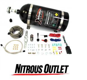 Nitrous Outlet X Series Universal Dry Single Nozzle Kit 35 200hp 22 90000