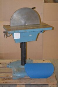Enco 20 Disc Sander W Adjustable Height Angle Table 2 Extra Discs