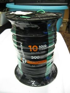 500 Roll Southwire Solid Insulated Thhn Copper Wire Green 10 Awg Gauge