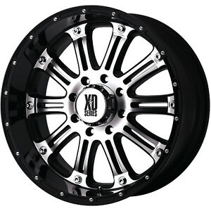 18x9 Machined Black Xd Xd795 Hoss 6x5 5 12 Rims Nitto Trail Grappler 285 65 18