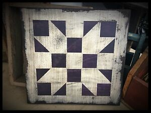 Handmade Heavily Distressed Sign Small Tattered Quilt Eaam