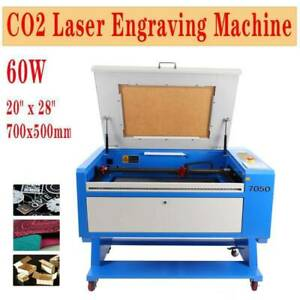 Used 60w Co2 Laser Engraver Engraving Cutter Machine 20 x28 Electric Lifting