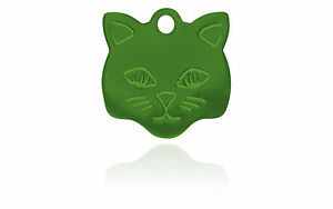 100 Kitty Pet Tags Blank Anodized Aluminum Ready To Personalize