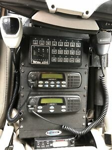 Motorola Cdm1550ls Uhf Mobile 2 Way Radio With Extras