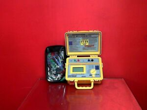 Extech 380580 Portable Milli Ohm Meter With Kelvin Alligator Clips