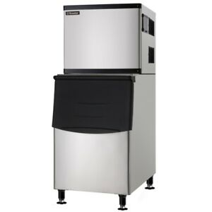Commercial Ice Machine Full Cube With Storage Bin 500 Lb