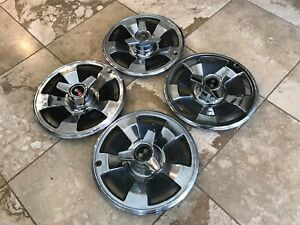 4 1966 Chevy Corvette Spinner Flipper Ncrs Wheel Covers Hub Caps Rare