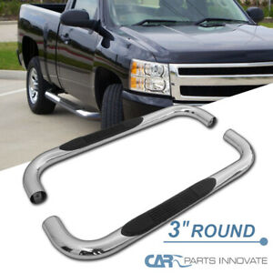 99 18 Silverado Sierra Regular Cab 3 Pickup Stainless Steel Side Step Nerf Bars