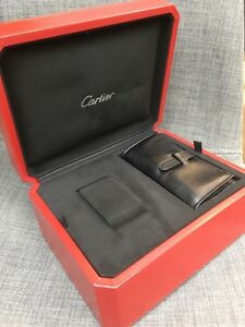 Cartier Roadster Big Red Watch Box With Outer White Cover Authentic Used
