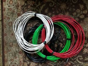 75 Ea Thhn Or Thwn 2 6 Awg Gauge Black White Red Green Stranded Copper Wire