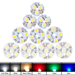 10x Led Chips Light 3w 4w 5w For Ceiling Candle Spotlight Aluminum Pcb Bead Bulb