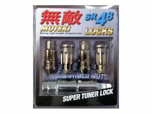 Muteki Sr48 Locking Lug Nuts Set M12x125mm Chrome Titanium