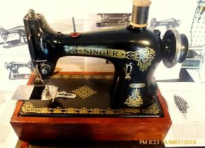 Singer 95 40 Gears Driven Industrial Sewing Machine crank c 1935 value Loaded